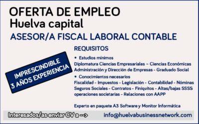Oferta de empleo | Asesor/a fiscal, laboral, contable
