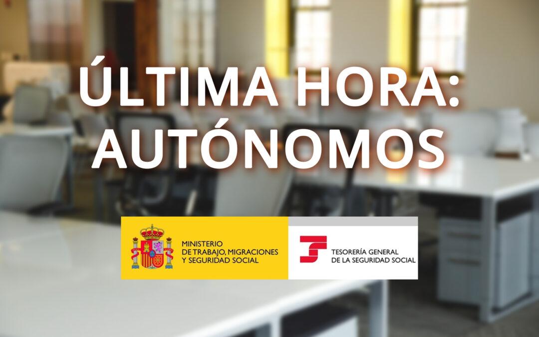 NOTICIA AUTÓNOMOS: Actualización tipos cuotas RETA año 2020
